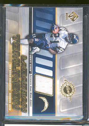 2001 Private Stock Game Worn Gear #126 LaDainian Tomlinson