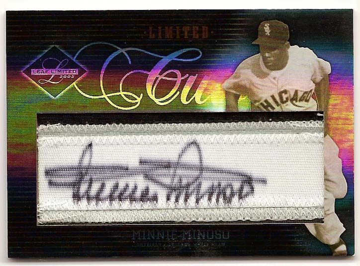 2005 Leaf Limited Cuts Silver #29 Minnie Minoso/25