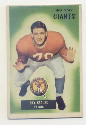 1955 Bowman #51 Ray Krouse RC