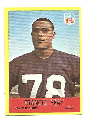 1967 Philadelphia #117 Francis Peay RC