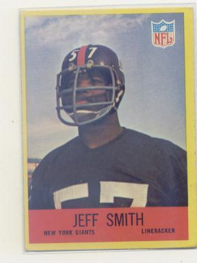 1967 Philadelphia #118 Jeff Smith LB RC