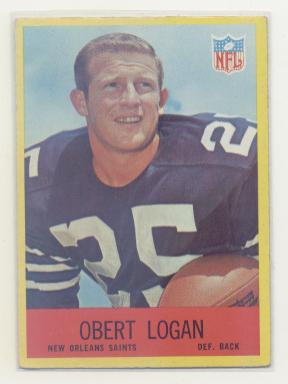 1967 Philadelphia #126 Obert Logan RC