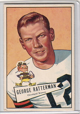 1952 Bowman Large #111 George Ratterman