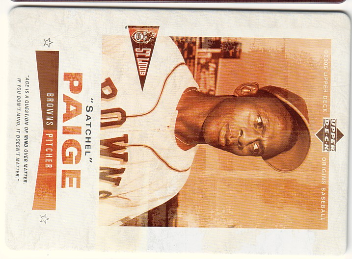 2005 Origins Nostalgic Signs #SP Satchel Paige