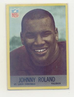 1967 Philadelphia #163 Johnny Roland RC