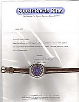 1972 Sugar Bowl Christmas Class watch belonging to KEITH JAMAAL WILKES (with Wilkes signed letter)