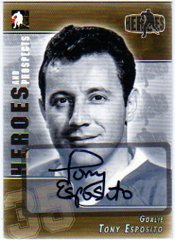 2004-05 ITG Heroes and Prospects Autographs #TE Tony Esposito