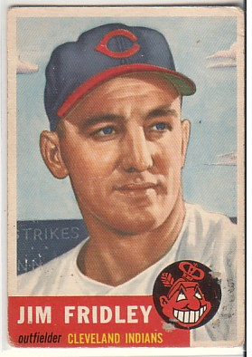 1953 Topps #187 Jim Fridley