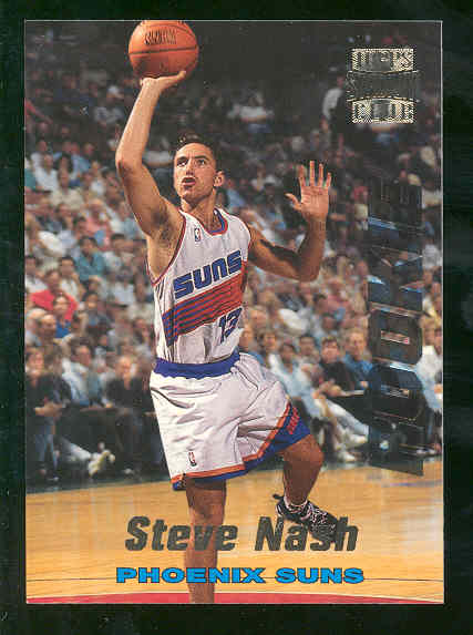 1996 97 Topps Stadium Club #R13 Stev Nash Phoenix Suns Rookie Card Mint Condition