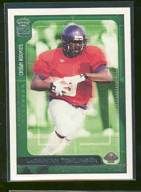 2001 Crown Royale Crown Rookies #8 LaDainian Tomlinson Chargers Touch Down Record Serial #d /2500
