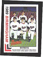 1989 Birmingham Barons Best #30 Batboys/Nathan Sparks/Rhett White/Brad Reznik/ front image