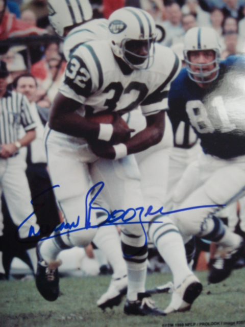 Emerson Boozer Autographed 8 x 10 Jets Picture With Coa