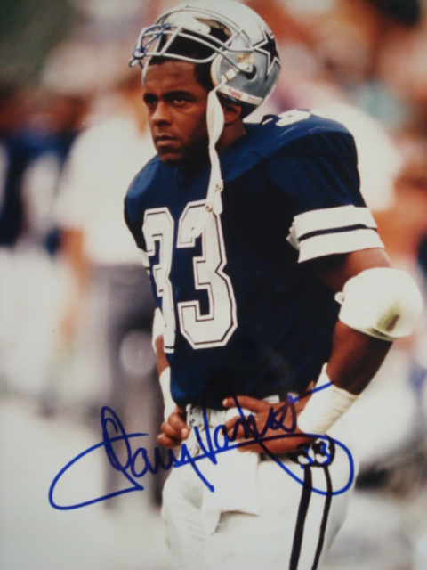 Tony Dorsett Autographed 8 x 10 Cowboys picture With PSA Coa
