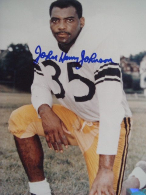 John Henry Johnson Autographed 8 x 10 Steelers Picture with Coa