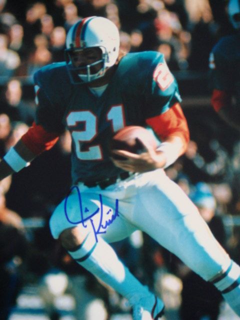 Jim Kiick Autographed 8 x 10 Dolphins Picture with Coa