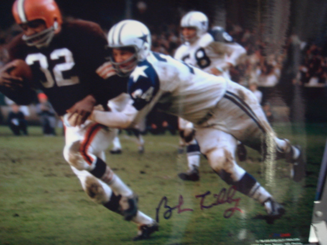 Bob Lilly autographed 8 x 10 Cowboys picture with Coa