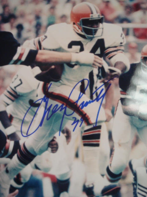 Greg Pruitt Autographed 8 x 10 Browns Picture With Coa