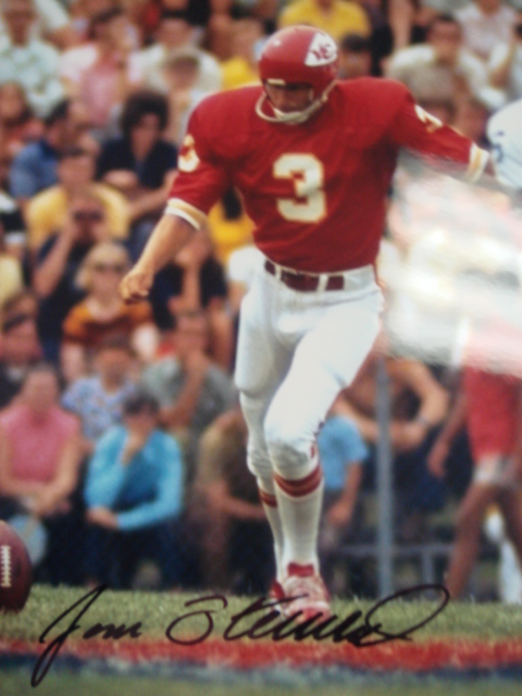Jan Stenerud Autographed Chiefs Picture With Coa