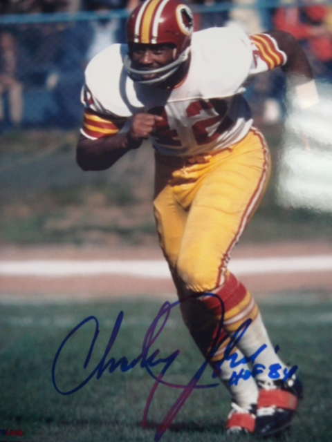 Charley Taylor autographed 8 x 10 Redskins Picture With Hof 84 ins. with Coa