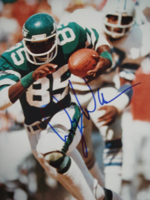 Wesley Walker autographed 8 x 10 Jets picture with Coa