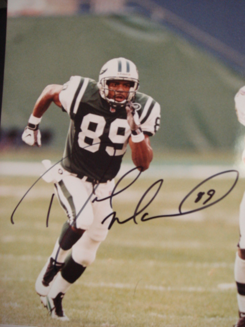 Dedrick  Ward Autographed 8 x 10 Jets picture with Coa