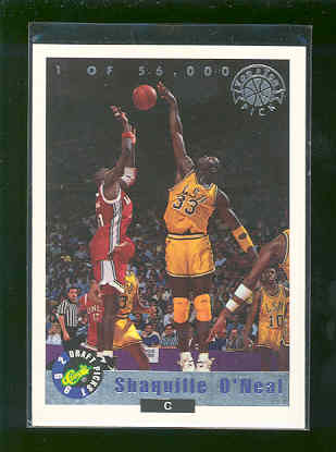 1992 Classic Top Ten Draft pick LP 1 of 56,000 #LP1 Shaquille O'Neal Heat Rookie