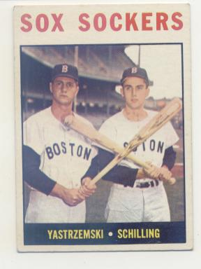 1964 Topps #182 Sox Sockers/Carl Yastrzemski/Chuck Schilling