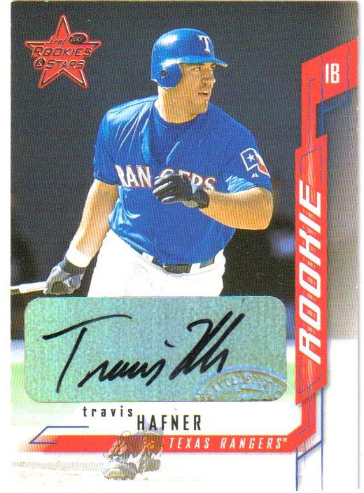 2001 Leaf Rookies and Stars Autographs #243 Travis Hafner/250 * front image