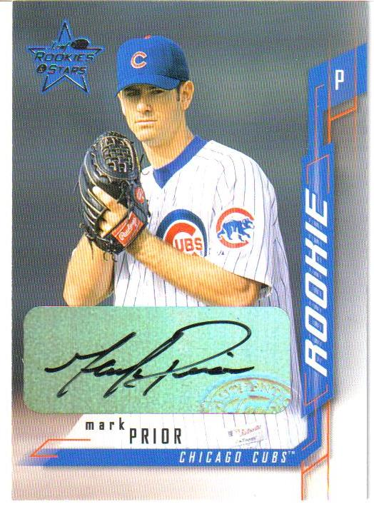 2001 Leaf Rookies and Stars Autographs #273 Mark Prior/100 *
