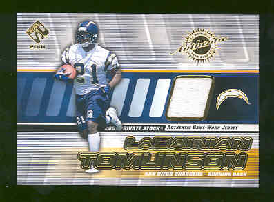 2001 Private Stock Authentic Game Worn Jersey #126 LaDainian Tomlinson RC Rookie Sandiego Chargers Touchdown Record RARE