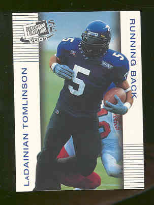 2001 Press Pass SE #11 LaDainian Tomlinson Texas Christian University Chargers Rookie