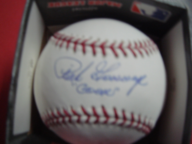 Rich Goose Gossage Autographed  official Mlb Baseball with Steiner Coa