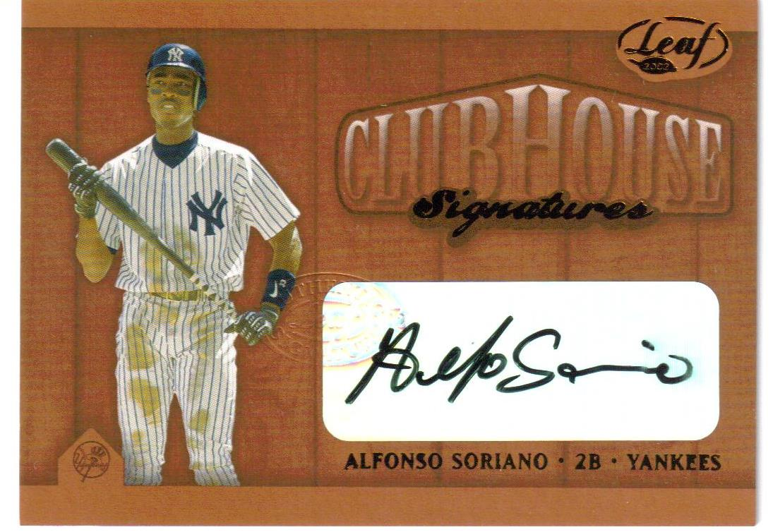 2002 Leaf Clubhouse Signatures Bronze #3 Alfonso Soriano/75
