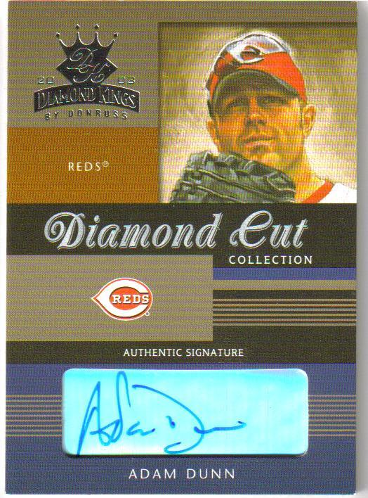 2003 Diamond Kings Diamond Cut Collection #6 Adam Dunn AU/150