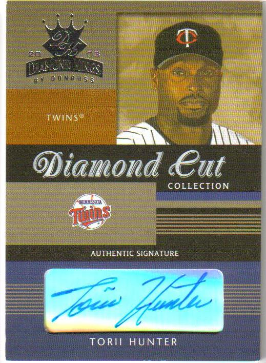 2003 Diamond Kings Diamond Cut Collection #7 Torii Hunter AU/150