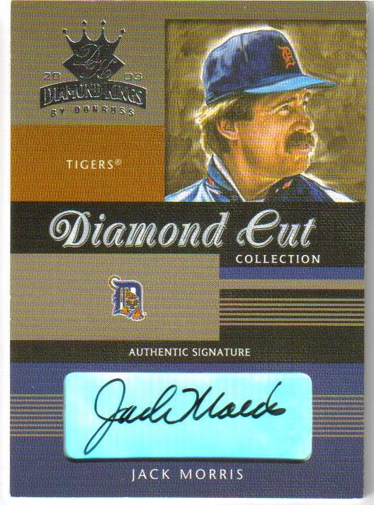 2003 Diamond Kings Diamond Cut Collection #14 Jack Morris AU/150
