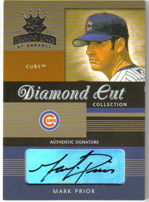 2003 Diamond Kings Diamond Cut Collection #18 Mark Prior AU/150