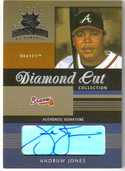 2003 Diamond Kings Diamond Cut Collection #23 Andruw Jones AU/75