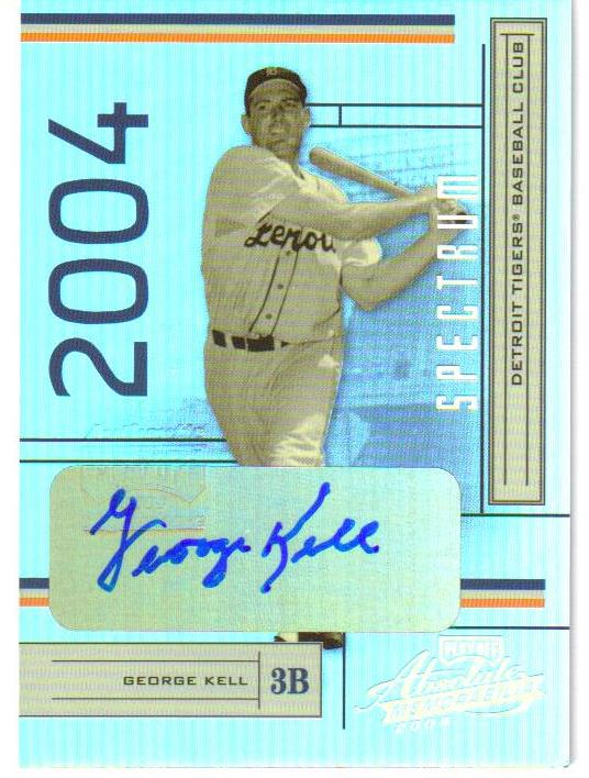 2004 Absolute Memorabilia Signature Spectrum Silver #73 George Kell/100