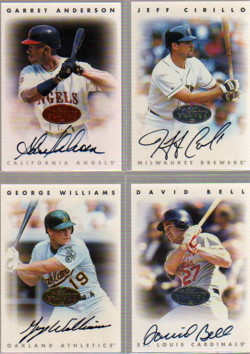 1996 Leaf Signature Autographs Silver #19 David Bell