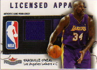 2003-04 Fleer Patchworks Licensed Apparel #SON Shaquille O'Neal