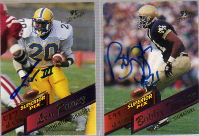 1995 Superior Pix Autographs #85 Bobby Taylor/4000