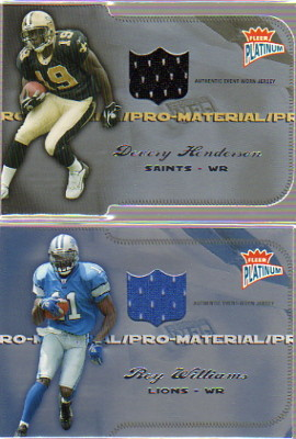 2004 Fleer Platinum Pro Material Jerseys #PMRW2 Roy Williams WR