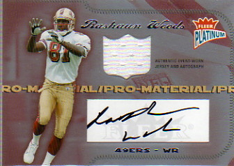 2004 Fleer Platinum Pro Material Jerseys Autographs #PMRW Rashaun Woods/274