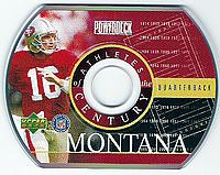 1999 Upper Deck Athletes of the Century PowerDeck #NNO Joe Montana