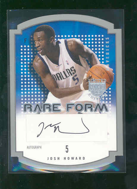 2003-04 SkyBox LE Rare Form Autographs #9 Josh Howard/880