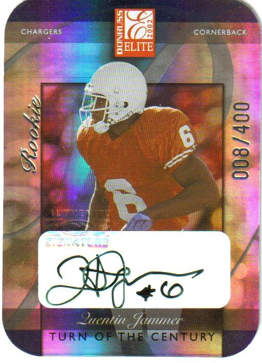 2002 Donruss Elite Turn of the Century Autographs #190 Quentin Jammer