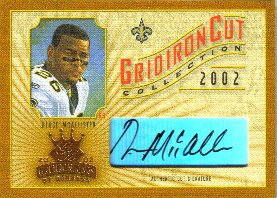2002 Gridiron Kings Gridiron Cut Collection #GC26 Deuce McAllister AU/310