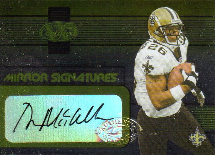 2002 Leaf Certified Mirror Gold Signatures #10 Deuce McAllister