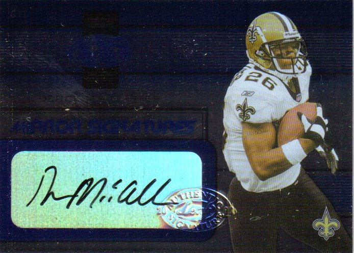 2002 Leaf Certified Mirror Blue Signatures #10 Deuce McAllister